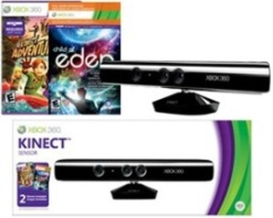 Xbox 360 Kinect Sensor w/ Kinect Adventures and Child of Eden (Download Token Code)