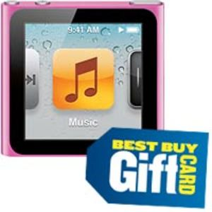Apple iPod nano 8GB (6th gen) - Pink + $20 Gift Card