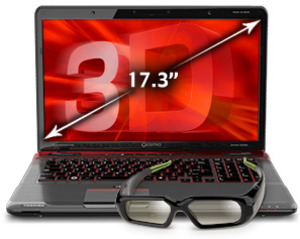 Toshiba Qosmio X775-3DV80 1080p 120Hz 3D Core i7-2670QM, 1.5GB GeForce GTX 560M, Blu-ray + 3D Glasses