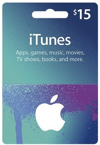 Apple iTunes $15 Gift Card
