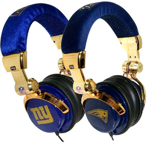 iHip NFL Super Bowl XLVI Teams Limited Edition Gold DJ Headphones