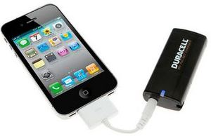 Duracell My Pocket Charger for iPod & iPhone w/ 2 Free Batteries