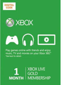 Xbox Live Gold 1 Month Subscription + Free 1 Month (New Members)
