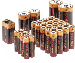 Kodak Max Alkaline Battery Storage Kit + Storage Case