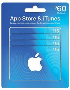 $60 App Store & iTunes Gift Cards Multipack (Sam's Club Members)