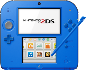 Nintendo 2DS (Electric Blue) + Mario Kart 7 (Refurbished)