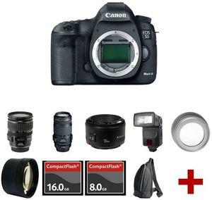 Canon EOS 5D Mark III 22.3 MP DSLR + 5 Lens Kit (3 Canon) + 24GB + Accessories