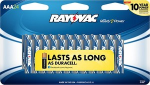 Rayovac Alkaline Batteries - 24 Pack (AA or AAA)