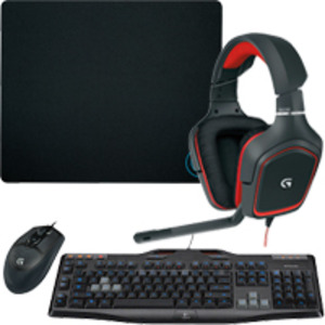 Logitech Gaming Headset, Keyboard, Mouse & Mouse Pad Package