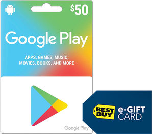 $50 Google Play Gift Card + $5 Best Buy Gift Card