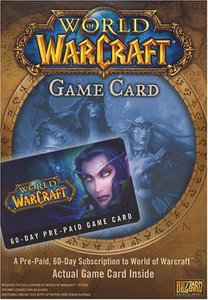 World of Warcraft 60 Day Subscription Card