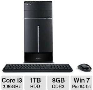 Acer Aspire ATC-605-UR2S Desktop Core i3-4160, 8GB RAM
