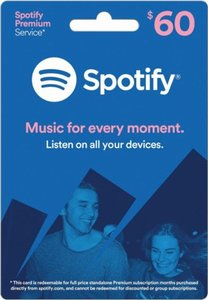 $60 Spotify Gift Card