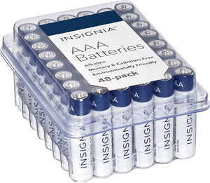Insignia AA or AAA Alkaline Batteries (60 Pack)