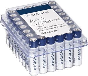 Insignia AA or AAA Alkaline Batteries (48 Pack)