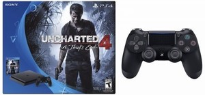 PlayStation 4 Slim Uncharted 4 Bundle + Extra DualShock 4 Controller