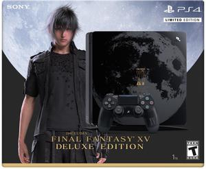 PlayStation 4 Slim 1TB Final Fantasy XV Limited Edition Bundle + PlayStation Plus 1 Year Membership (Email Delivery)