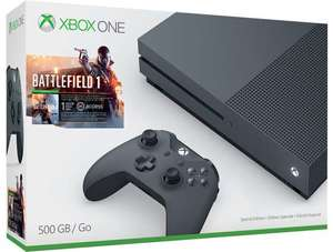 Xbox One S Battlefield 1 Storm Grey Bundle + Extra Controller