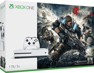 Xbox One S 1TB Gears of War 4 Bundle + Extra Controller + Free Game