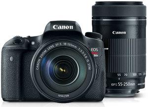 Canon Rebel T6s DSLR Camera + 18-135mm & 55-250mm Lenses (Refurbished)