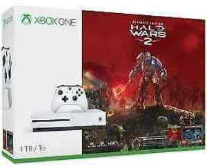 Xbox One S 1TB Halo Wars 2 Bundle + Extra Controller + Free Game