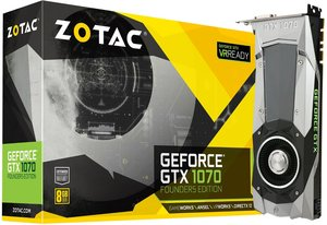 Zotac GeForce GTX 1070 Founders Edition Graphic Card ZT-P10700A-10P