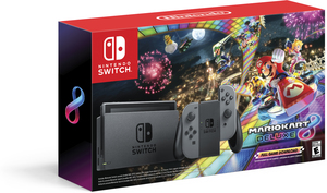Nintendo Switch (Gray Joy-Con) Mario Kart Bundle