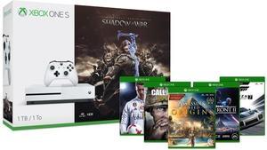 Xbox One S 1TB Shadow of War Bundle + 2 Free Games