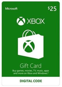 Xbox Live $25 Gift Card (Email Delivery)