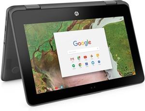 HP Chromebook 11-x360 Touch, Celeron N3350, 4GB RAM, 32GB eMMC (Refurbished)