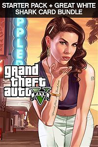 Grand Theft Auto V, Criminal Enterprise Starter Pack and Great White Shark Card Bundle (Xbox One Download)