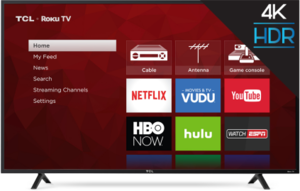 TCL 65S401 65-inch 4K HDR Roku Smart TV (Refurbished)