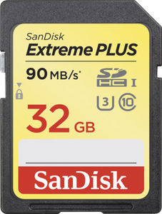 SanDisk Extreme PLUS 32GB SDHC Memory Card