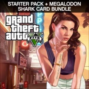 Grand Theft Auto V + Criminal Enterprise + Megalodon Shark Card Bundle (PS4 Download)