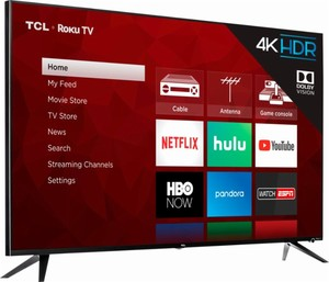 TCL 55R615 55-inch 4K HDR Roku Smart TV (Refurbished)