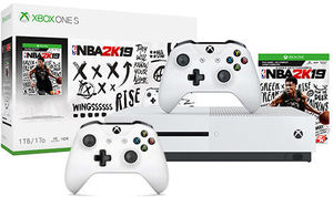 Xbox One S 1TB NBA 2K19 Bundle + Extra Controller