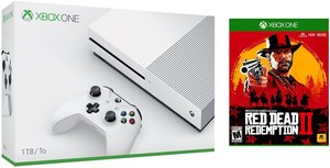 Xbox One S 1TB Console (White) + Red Dead Redemption 2