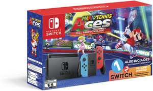 Nintendo Switch Mario Tennis Aces & 1-2-Switch Bundle