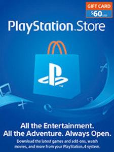 $60 PSN Store Credit (PS4 Download)