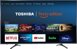 Toshiba 65LF711U20 65-inch 4K HDR Smart LED Fire TV Edition + Amazon Echo Dot (3rd Gen)