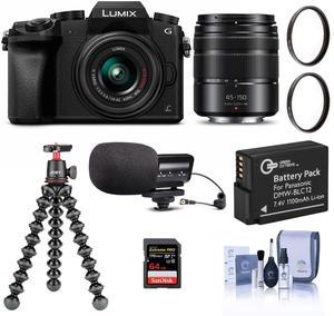 Panasonic DMC-G7 Mirrorless Camera + 14-42mm & 45-150mm Lenses + Accessory Kit